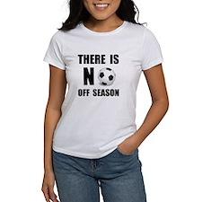 No Off Season Soccer Black T-Shirt