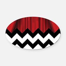 Unique Black white Oval Car Magnet