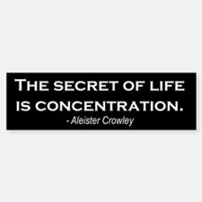 """Concentration"" Bumper Bumper Bumper Sticker"
