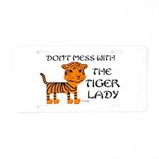 Cute Tiger Aluminum License Plate