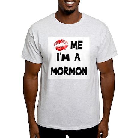 Kiss Me I'm A Mormon Ash Grey T-Shirt
