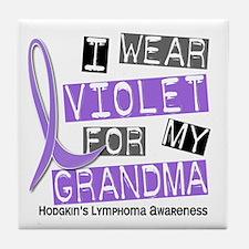 I Wear Violet 37 Hodgkin's Lymphoma Tile Coaster
