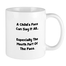 Childs Face Black Mugs