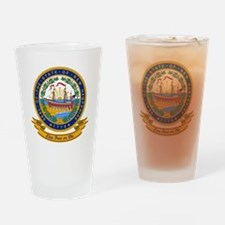 New Hampshire Seal Drinking Glass