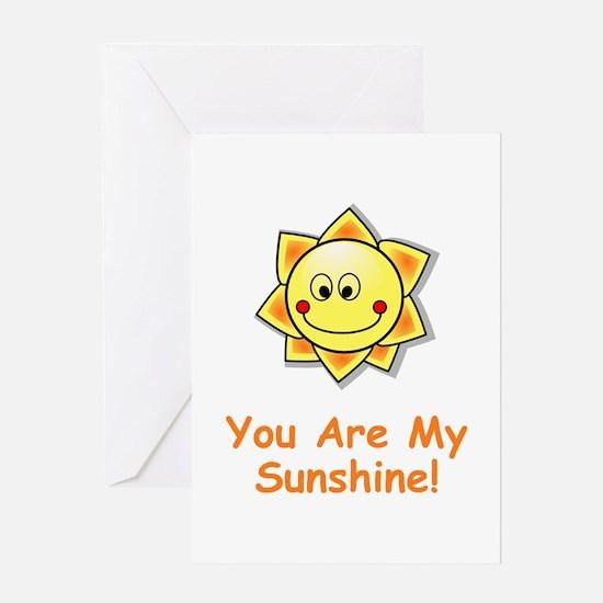 Smiling sun Greeting Card