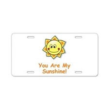 Cute Ray of sunshine Aluminum License Plate