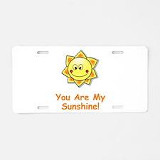 Cute Ray of sunshine Aluminum License Plate
