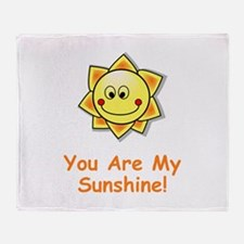 Cute Cute sun Throw Blanket