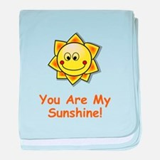 Cute You are my sunshine baby blanket