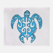 Tribal honu Throw Blanket