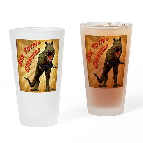 T Rex w AK Drinking Glass
