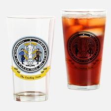 Wyoming Seal Drinking Glass