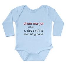 Definition of Drum Major Long Sleeve Infant Bodysu