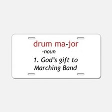 Definition of Drum Major Aluminum License Plate