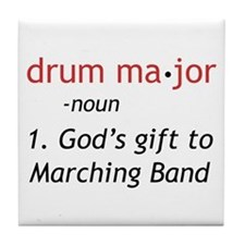 Definition of Drum Major Tile Coaster