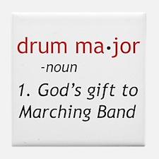 Definition of Drum Major Tile Coaster