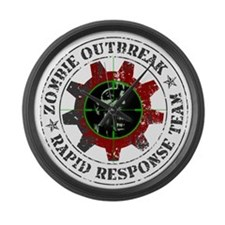 Zombie Outbreak Rapid Response Large Wall Clock