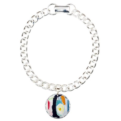 MODERN ABSTRACT Charm Bracelet, One Charm