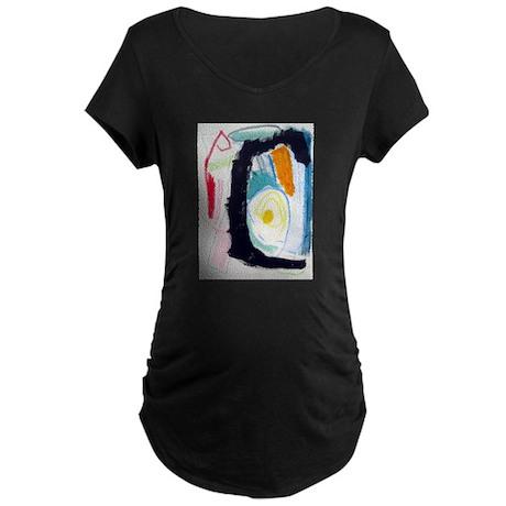 MODERN ABSTRACT Maternity Dark T-Shirt