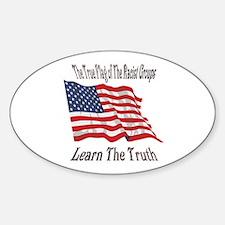 Their Flag Oval Decal