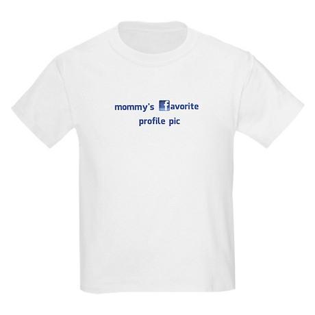 Mommy's Profile Pic Kids Light T-Shirt