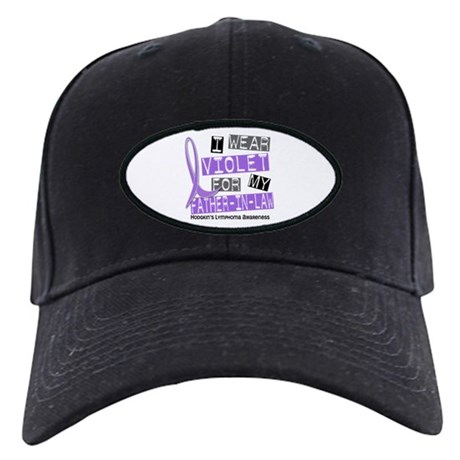 I Wear Violet 37 Hodgkin's Lymphoma Black Cap
