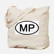 MP - Initial Oval Tote Bag