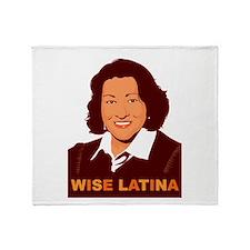 Sotomayor Wise Latina Throw Blanket
