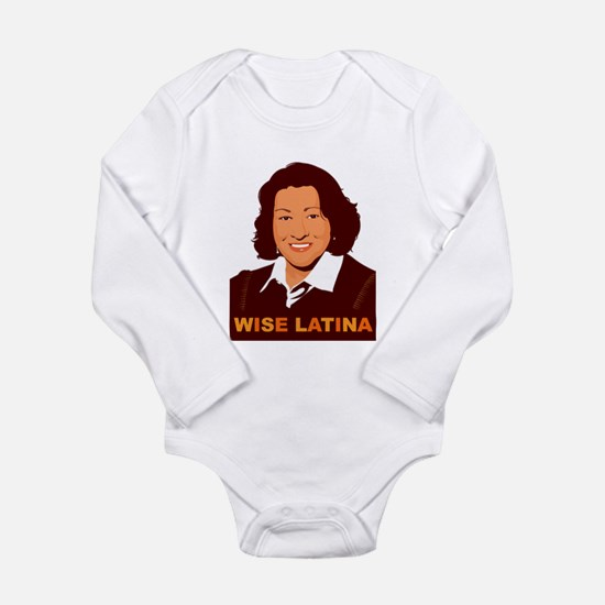Sotomayor Wise Latina Long Sleeve Infant Bodysuit
