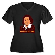Sotomayor Wise Latina Women's Plus Size V-Neck Dar