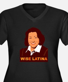 Sotomayor Wise Latina Women's Plus Size V-Neck Dar