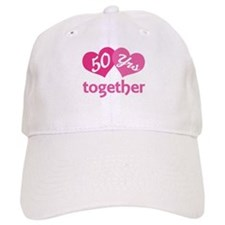 50th Anniversary Hearts Baseball Baseball Cap