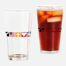 Right Priorities Drinking Glass