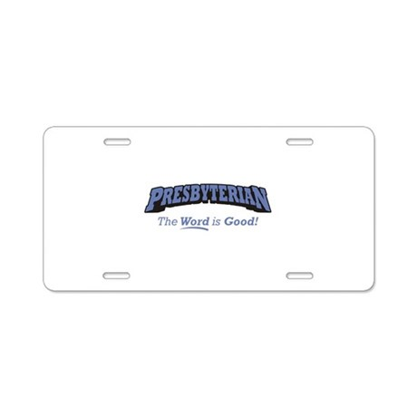 Presbyterian / Word Aluminum License Plate