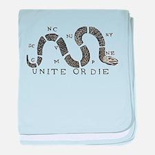 Unite or Die baby blanket