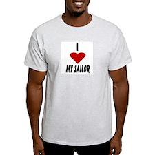 I Heart My Sailor Ash Grey T-Shirt