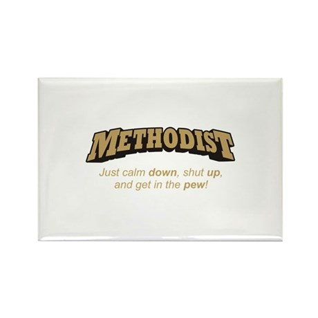 Methodist / Pew Rectangle Magnet