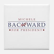Michele Backwards 2012 Tile Coaster