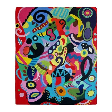 COLORFUL ABSTRACT Throw Blanket