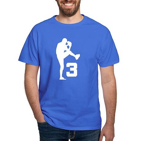 Baseball Pitcher Number 3 Dark T-Shirt