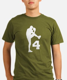 Baseball Pitcher Number 4 T-Shirt