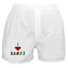 I Heart B.A.M.F.s Boxer Shorts