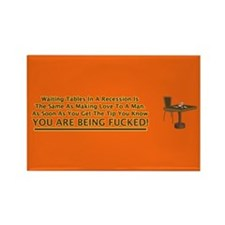 Waiting Tables Rectangle Magnet