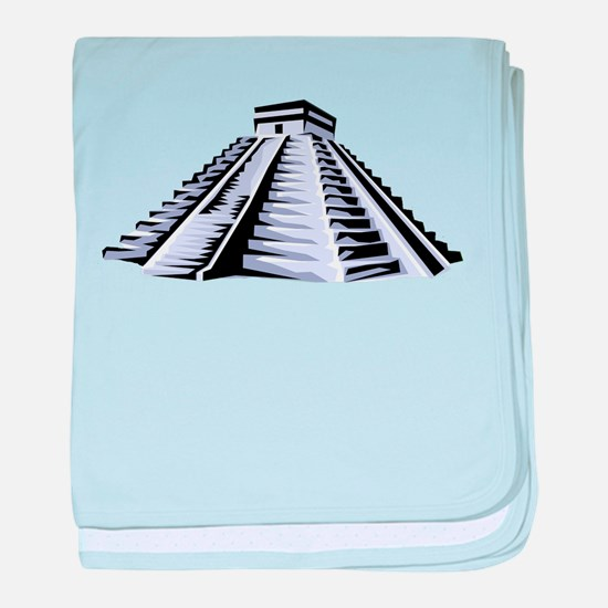 Temple of Kukulkan Icon baby blanket