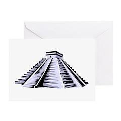 Temple of Kukulkan Icon Greeting Card