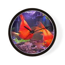Parrot Fish Wall Clock