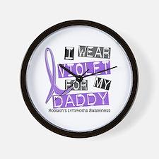 I Wear Violet 37 Hodgkin's Lymphoma Wall Clock