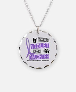 I Wear Violet 37 Hodgkin's Lymphoma Necklace
