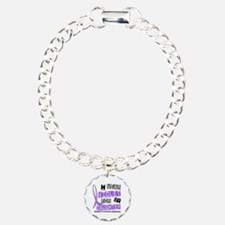 I Wear Violet 37 Hodgkin's Lymphoma Charm Bracelet