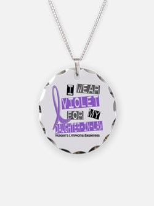 I Wear Violet 37 Hodgkin's Lymphoma Necklace Circl